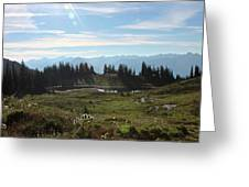 Meadow Mountain View Greeting Card