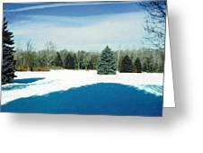 Meadow Snow Greeting Card