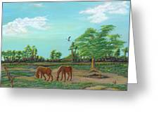 Meandering Mares Greeting Card