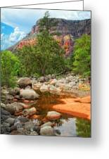 Meandering Oak Creek Canyon Greeting Card