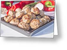 Meat Balls Greeting Card