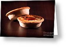 Meat Pies With Sauce And High Contrast Lighting. Greeting Card