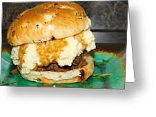 Meatloaf And Mashed Potato Sandwich Greeting Card