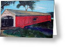 Mecca Covered Bridge Greeting Card by Andrea Harston