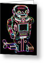 Mechanical Mighty Sparking Robot Greeting Card