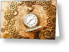 Mechanisms In Industrial Time Greeting Card