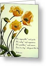 Meconopsis  Poem Greeting Card