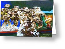Med Evac Battle For Fallujah Iraq Greeting Card