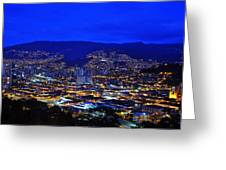 Medellin Colombia At Night Greeting Card