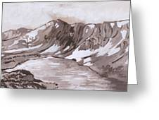 Medicine Bow Peak Historical Vignette Greeting Card