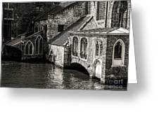 Medieval Architecture Of Bruges Greeting Card