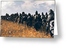 Medieval Army In Battle - 04 Greeting Card