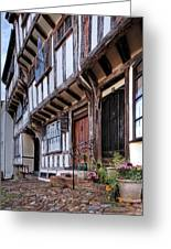 Medieval British Architecture - Dick Turpin's Cottage Thaxted Greeting Card