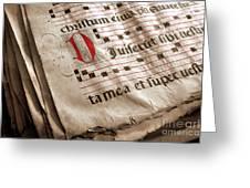 Medieval Choir Book Greeting Card