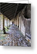 Medieval Church Entrance Greeting Card