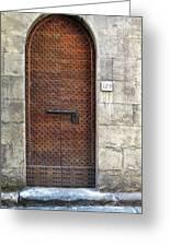 Medieval Florence Door Greeting Card