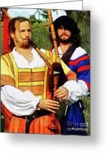 Medieval Minstrels Greeting Card