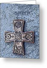 Medieval Nordic Cross Greeting Card