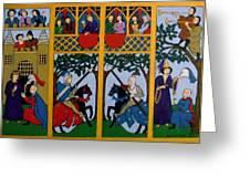 Medieval Scene Greeting Card