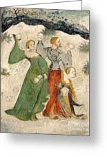 Medieval Snowball Fight Greeting Card