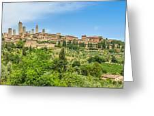 Medieval Town Of San Gimignano, Tuscany, Italy Greeting Card