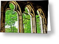 Medieval Triptych Greeting Card