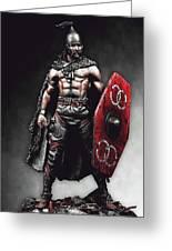 Medieval Warrior - 13 Greeting Card