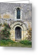 Medieval Window And Door Greeting Card