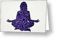 Meditate Ultraviolet Greeting Card