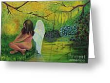 Meditation In Eden Greeting Card
