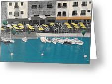 Mediterranean Harbour Greeting Card