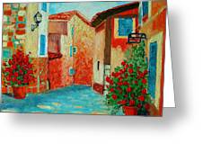 Mediterranean Street Greeting Card