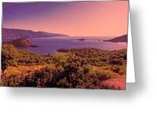 Mediterranean Sunset Glow Greeting Card