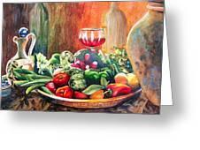Mediterranean Table Greeting Card