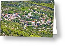 Mediterranean Village On Island Of Vis Greeting Card