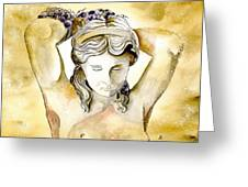 Meditrina Goddess Of Wine Greeting Card