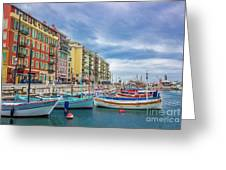 Meditteranean Life In Nice, France Greeting Card