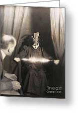 Medium During Seance 1912 Greeting Card
