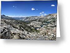 Medley Lake Basin Panorama From High Above - Sierra Greeting Card