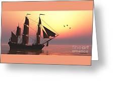 Medusa Sailing Ship Greeting Card