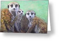 Meerkat Family Greeting Card