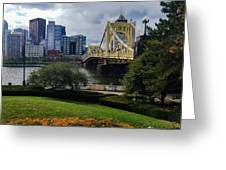 Meet Me At The Clemente Bridge Greeting Card