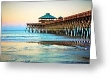 Meet You At The Pier - Folly Beach Pier Greeting Card