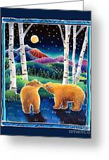 Meeting In The Moonlight Greeting Card