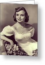 Meg Randall, Vintage Actress Greeting Card
