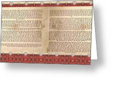 Meguilat Esther-esther Scroll The Whole Text Greeting Card