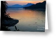 Mekong River Sunset Greeting Card
