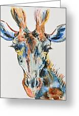 Melancholic Giraffe Greeting Card