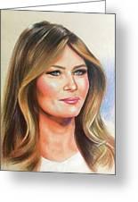 Melania Trump Greeting Card