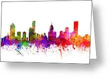 Melbourne Australia Cityscape 02 Greeting Card